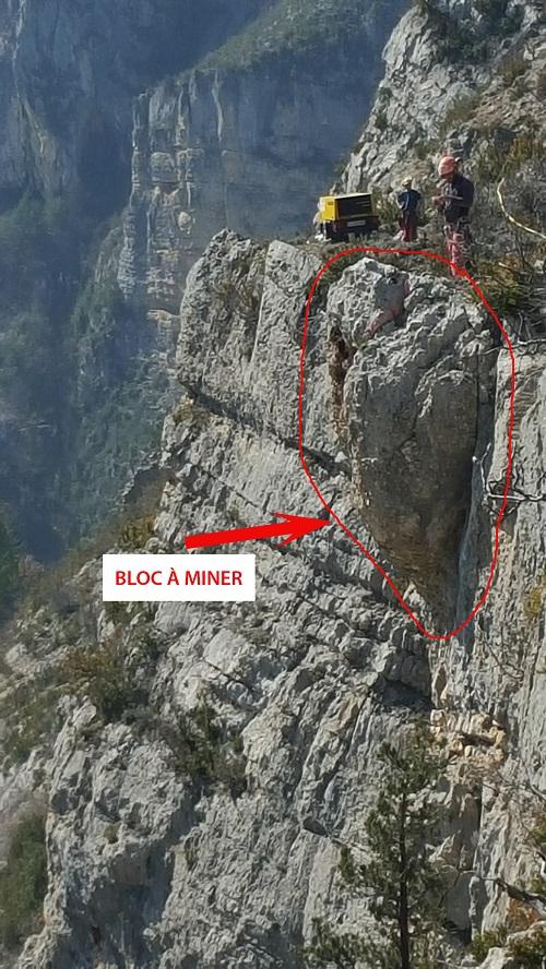 Bloc à miner au Château