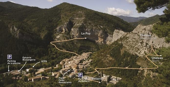 Sentier d'accès aux falaises