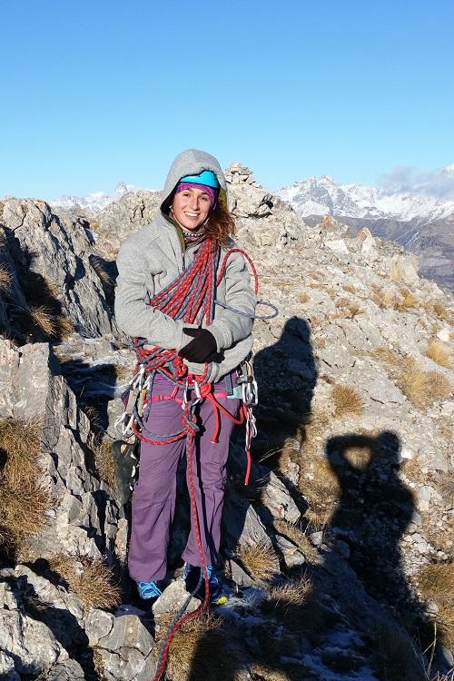 Alizé au sommet de l'Aiguille de Gleize